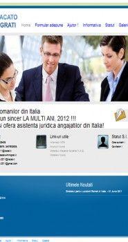 Website Design pentru comunitatea de imigranti din Italia