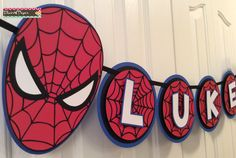 Custom Spiderman Party Banner