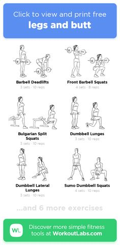legs and butt · Free workout by WorkoutLabs Fit