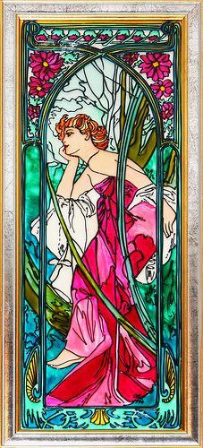 Alphonse Mucha - Le Soir (Evening) Art Nouveau