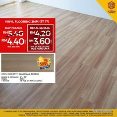 Other for sale, RM4 in Klang, Selangor, Malaysia. Beautiful Wood Vinyl Flooring Price From RM3. 60/SQFT  CHOOSE THE RIGHT FLOORING!!  Get Wesaveyousa