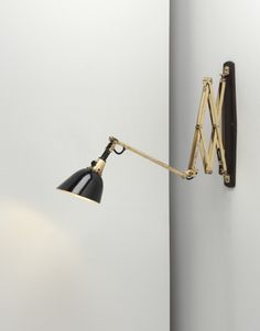 "i have great taste! - 1925 lamp sold at auction for $4800      Curt Fischer, Adjustable ""Midgard"" wall lamp"
