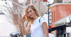 Karlie Kloss works a pair of classic Timberlands just in time for spring.