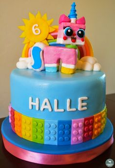 Unikitty Lego Cake by Arizona Doe Baking Co. Unikitty by Whitney Ellsworth