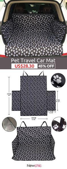 [Click to SHOP] Pet Dog Travel Waterproof Car Mat SUV Trunk Pet Car Seat Cover#pet#animal#travel#trip