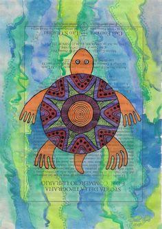 Turtle wall art, Swimming turtle art, Swimming turtle painting, Swimming turtle watercolor, sealife wall art, sealife art, ocean life art by ElizabethAngusArt on Etsy