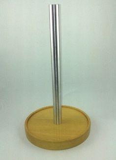 O Porta Papel Toalha de Mesa produzido em Madeira Nobre e Alumínio Escovado oferece praticidade e elegância a sua cozinha. R$ 49,90
