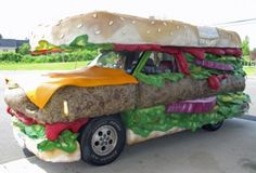 Are two of your favorite things cars and food? Check out these photos where your two most-liked things are the stars in these food shaped cars. Strange Cars, Weird Cars, Cool Cars, Crazy Cars, Unique Cars, Car Humor, Exotic Cars, Art Cars, Custom Cars