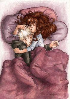 Sleeping [Dramione] by CaptBexx on DeviantArt