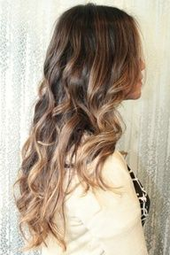 This looks like a really neat productlight brown ombre highlights
