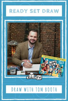 Watch Ready Set Draw with Author Tom Booth featured at KidLit TV.