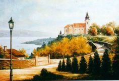 Abadía en Tihany pintor: János Korognai Hungary, History, Architecture, Places, Painting, Animals, Art, Arquitetura, Art Background