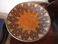 Ethnic / Tribal Southwestern or African Woven Plate / Bowl