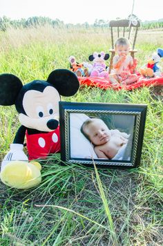 1st Birthday Photo Shoot Disney Mickey Mouse Themed ©Blue Amber Photography, NC