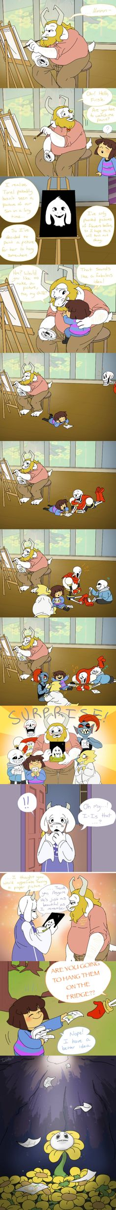 "UNDERTALE EMOTIONS! \\ Oh good gods, I'm crying ._.<<ONE OF THE ONES THAT FLOWEY GETS SAYS ""I MISS YOU"""