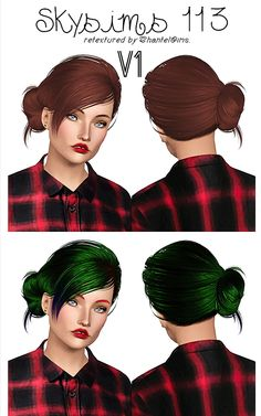 Skysims 113 hairstyle retextured by Chantel for Sims 3 - Sims Hairs - http://simshairs.com/skysims-113-hairstyle-retextured-by-chantel/