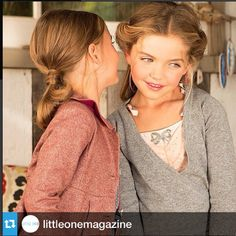 Excited to be featured in the upcoming issue of Little One Magazine! We spy our Rose wrap cashmere cardigan - such a lovely shot!
