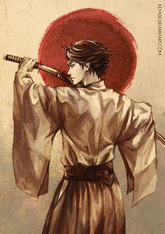 Oikawa as a samurai in traditional clothes?! YYYYEEESSS PPLLLEEEAASSSSEEEE 0////0