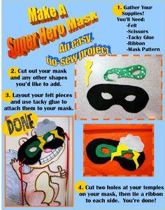 Super Hero Mask Craft Program from Rachel Moani