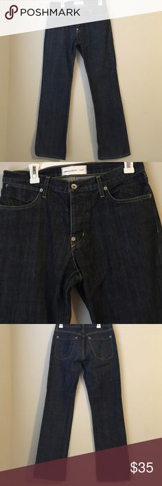 "Slim Straight Leg Dark Wash Denim Jeans In perfect condition! Paperdenim&cloth jeans that match everything your man could possibly have in his closet. Labeled waist size 32, inseam 32"" with pant leg measuring 9"" laying flat across. paperdenim&cloth Jeans Straight"
