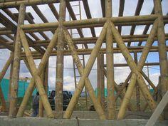 El Bambú-Guadua como material de construcción        Estructura de muros y forjado en Guadua para una casa                             ...