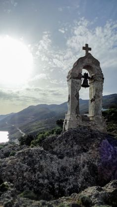 Moss-covered ruins of a chapel one of many chapels and churches in Greek Sfakia some of them date back to the late Middle Ages. Mykonos Greece, Crete Greece, Athens Greece, Greece Islands, Crete Island, Old Windmills, Tourist Trap, Belle Villa, Greece Travel