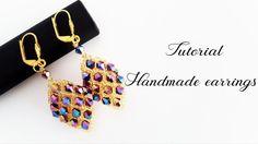 #МК - Серьги ромбы из бисера и биконусов | Earrings from beads and bicone