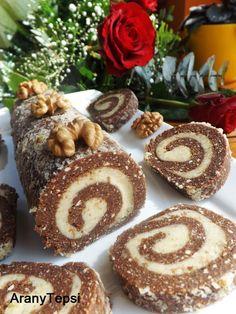 AranyTepsi: Diós keksztekercs