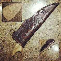 Instagram media by tatu_swede - Antler #seax that I made a custom #leather #sheath #knife #viking #vikings #Sweden #Scandinavian #Norse #Heathen #Asatru #Pagan #Skandihooligan #Swedishstyle #TheMightyHorsemanTattooCo