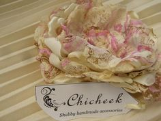 My handmade Chicheek flower brosch, http://www.facebook.com/pages/Chicheek-shabby/146041415534104