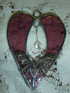Beautiful Little Stained Glass Heart with by SheWhoPlaysWithGlass, $10.95