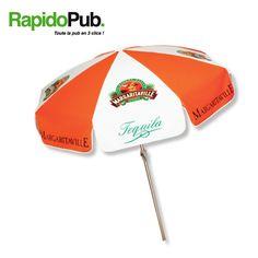 RapidoPub vous propose une gamme de parasols personnalisés pour accueillir votre clientèle... tout en faisant votre publicité ! 😃 Parasols, Lineup, Everything