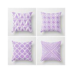 Lavender Throw Pillow Modern Throw Pillow Lavender Cushion