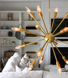 My Sputnik has arrived and    I could not be more excited to share this new light with all of you!    Say hello to my Mid Century Round S...
