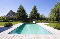 Buitenzwembad met padoek terras, skimmer zwembad, liner ‹ De Mooiste Zwembaden