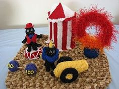 Donna's Crochet Designs Blog of Free Patterns: Dog with Fleas Go To The Circus Play Set Free Crochet Pattern