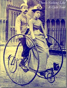 There's Nothing Like A Cycle Tour - Postcard. On a cycling tour? Send them this vintage Victorian card http://www.zazzle.com/theres_nothing_like_a_cycle_tour_postcard-239494949718783691 #travel #touring #cycletour