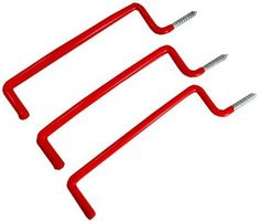 "ToolUSA 3 Piece Heavy Duty """"""""l"""""""" Shaped Storage Hooks: WP-27723 : ( Pack of 1 Pc )"