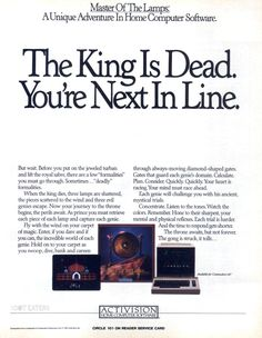 The King is dead. Long live the King (1985). #Activision #bitstory