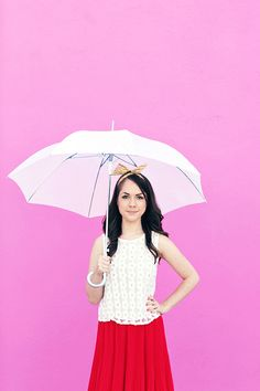 Use masking tape stencils to jazz up a plain umbrella. | 18 Clever Ways To Keep People From Stealing Your Stuff