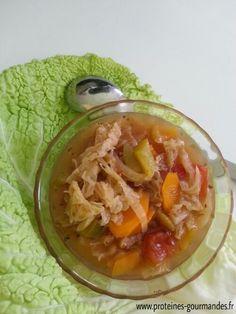 soupe au chou vert minceur