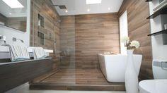 Une salle de bain zen et actuelle | Style France Arcand | CASA RÉNOVATION SALLE DE BAIN D'EN HAUT. Elle est parfaite