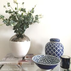 #interior, #decor, #basket, #plant, #blue, #chinoiserie, #ginerjar,