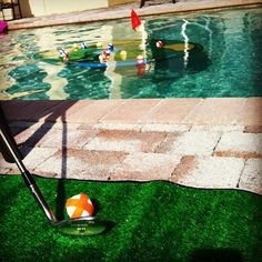 This floating game of mini-golf: