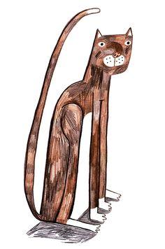 My cat Lilly Lauren Humphrey illustration