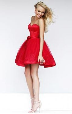 2014 New Arrival Red Princess Sweetheart Bow A-Line Mini Tulle Appliques Short Dresses Cocktail Dresses Party Dress skirt