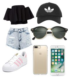 """""""Untitled #2"""" by kaite505 on Polyvore featuring Boohoo, adidas, Ray-Ban, Topshop and Speck"""