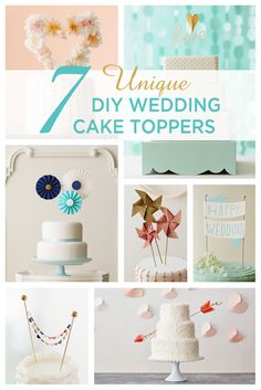 Looking for a unique wedding cake topper? These 7 DIY wedding cake toppers by Hallmark designers take the cake! Includes 7 creative ideas, easy instructions and free printables.