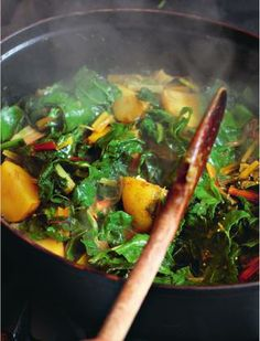 Chard and new potato curry from Hugh Fearnley-Whittingstall's River Cottage Veg Every Day!