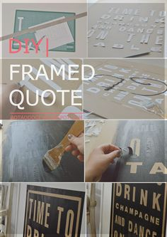 DIY  FRAMED QUOTE  TIME TO DRINK CHAMPAGNE AND DANCE ON THE TABLE